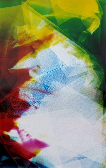 Lattice (Ambient) #125, 2014, 48 x 30 inchuniquechromogenic photogram