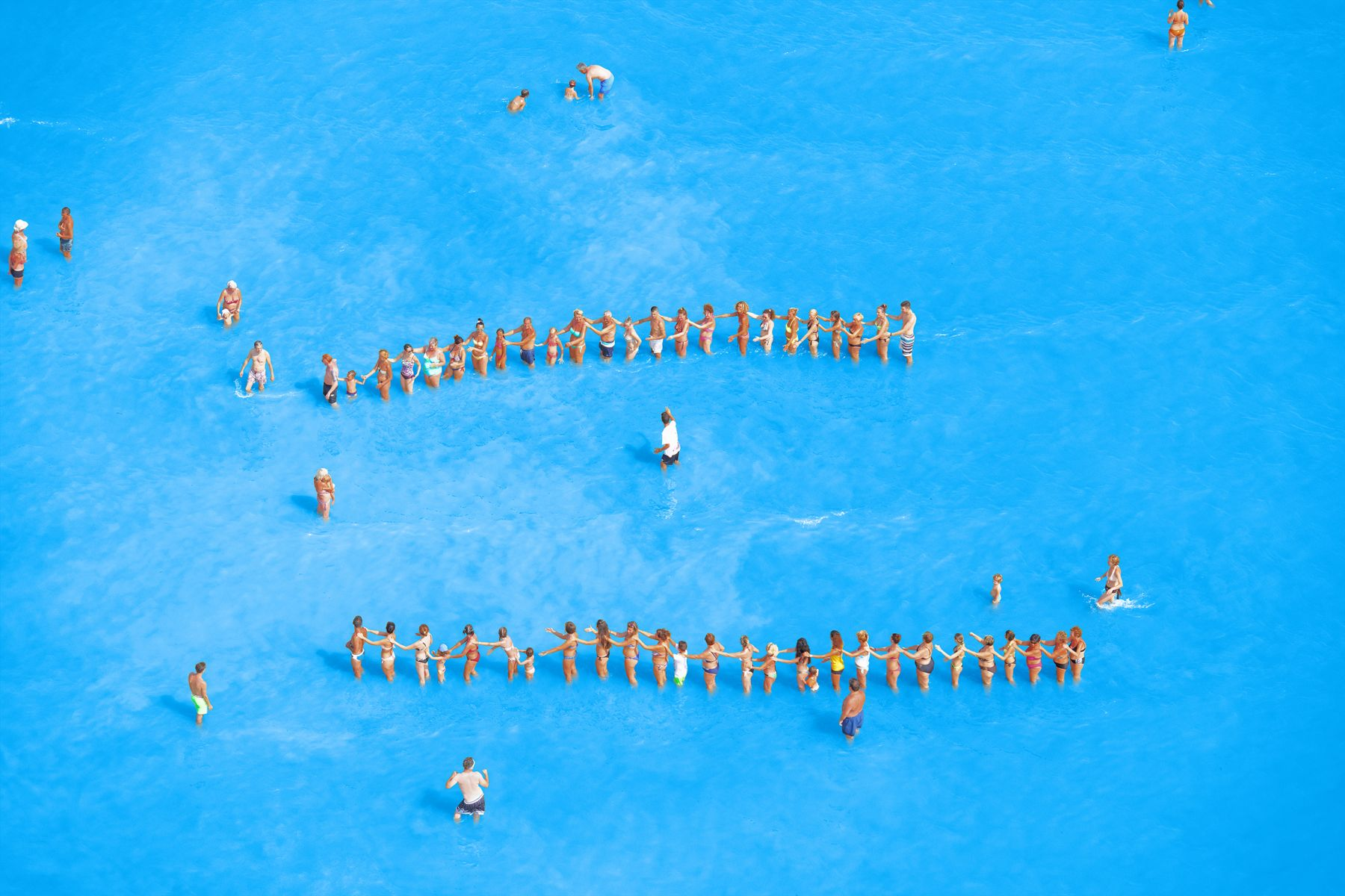 Adriatic Sea (Staged) Dancing People #15, 2015, 65 x 96 inch or 44.5 x 65.5 inch archival pigment print