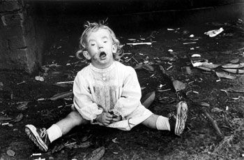 Baby on the Ground, 1986, 14 x 11 inches, gelatin silver print