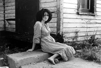 Girl in Dress on Step, 1986, 14 x 11 inches, gelatin silver print