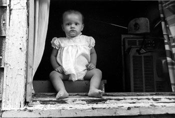 Baby in Window, 1986, 14 x 11 inches, gelatin silver print