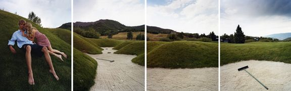 The Trap, 2007. Four-panel archival pigment print, available as 24 x 80 or 40 x 120 inches.