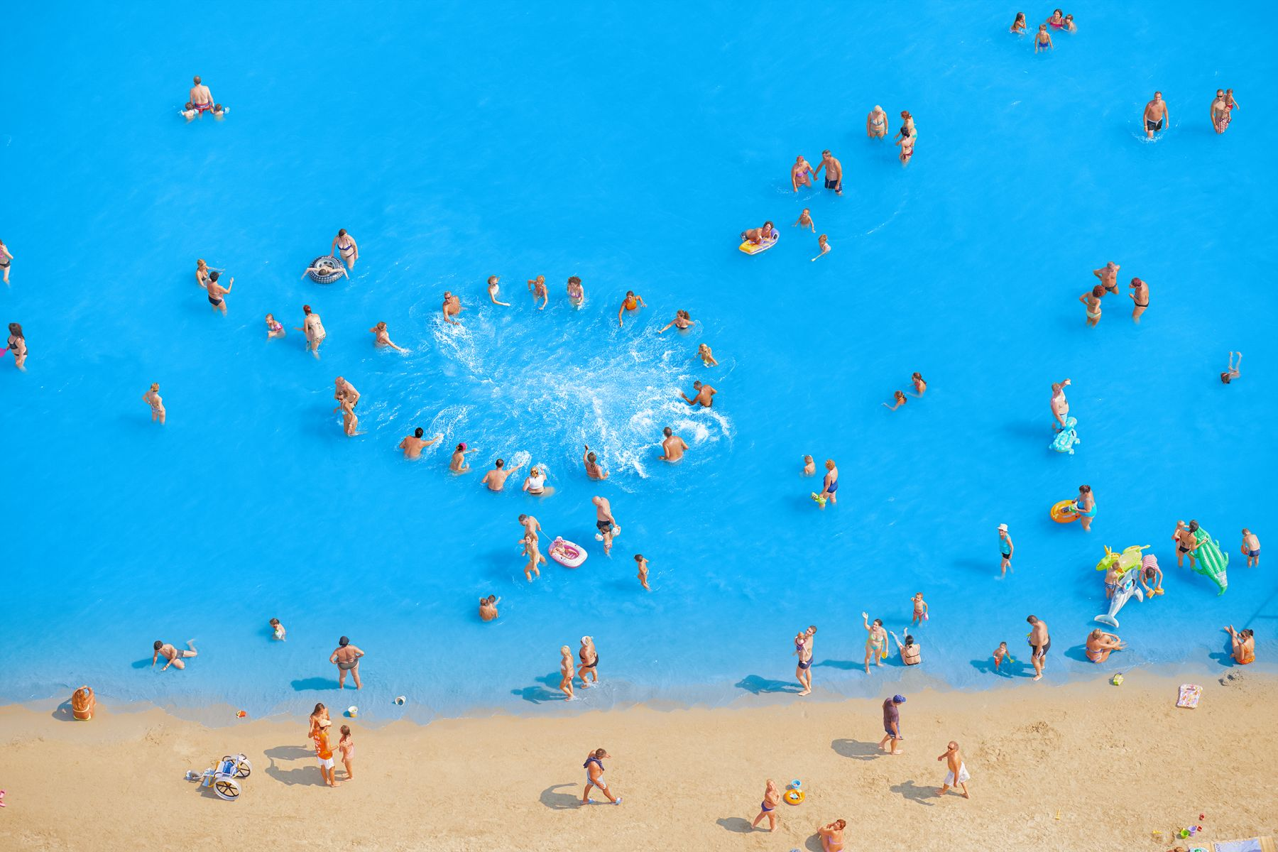 Adriatic Sea (Staged) Dancing People #9, 2015, 65 x 96 inch or 44.5 x 65.5 inch archival pigment print