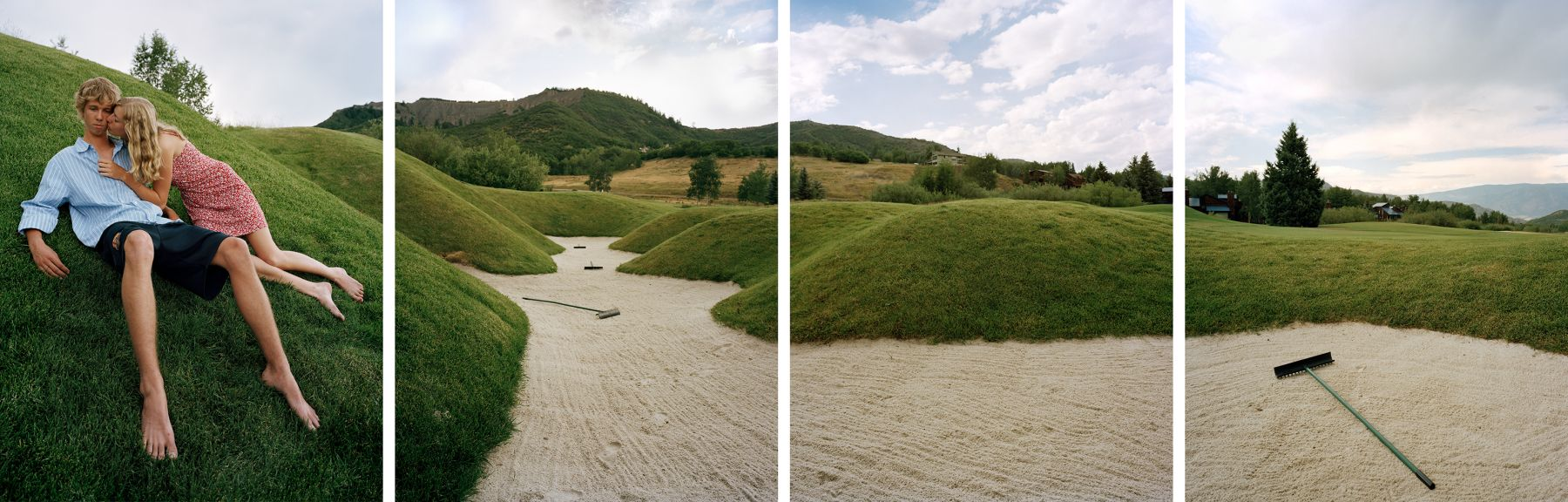 Trap, 2007. Four-panel archival pigment print, available as 24 x 80 or 40 x 120 inches.