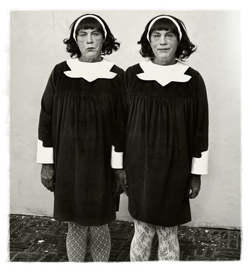 Diane Arbus / Identical Twins, Roselle, New Jersey (1967), 2014, Archival pigment print, 16 x 15 inches
