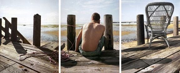 Chick, 2012. Three-panel archival pigment print, available as 24 x 60 or 40 x 90 inches.