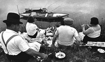 Picnic on the Marne, 1938, 16 x 20 inch Gelatin Silver Print