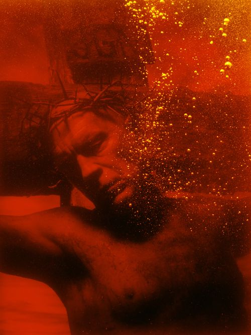 Andres Serrano / Piss Christ (1987), 2014, Archival pigment print, 44.25 x 33.25 inches