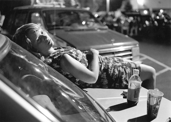 Athens, GA (Girl on Hood of Car), 1996  Gelatin silver print, please inquire for available sizes