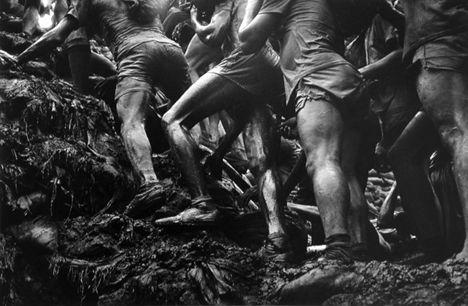 Legs, Serra Pelada, Brasil, from the series Workers, 1986. 16 x 20, 20 x 24, 24 x 35, 36 x 50 or 50 x 68 inch gelatin silver print