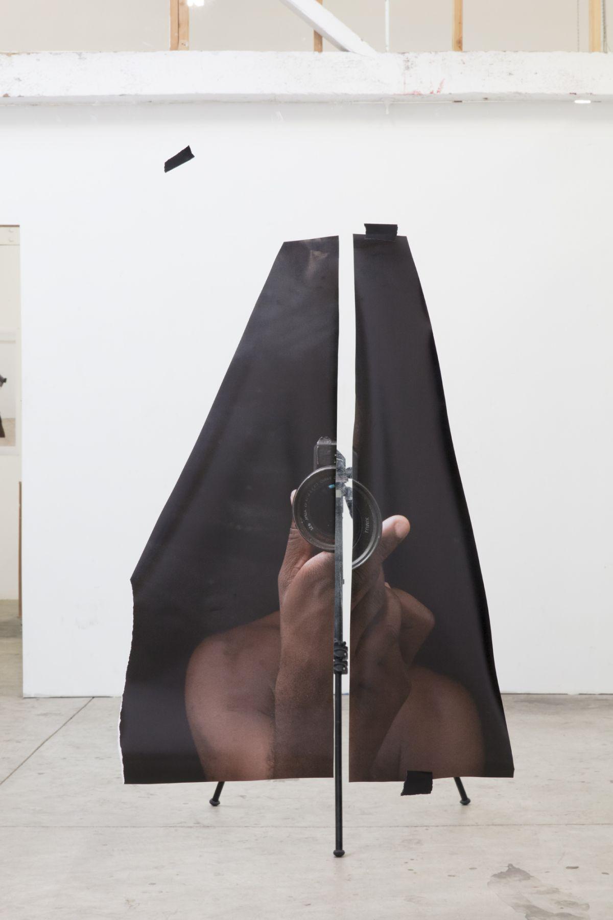 Paul Mpagi Sepuya,Mirror Study (0X5A7431),2018. Archival pigment print, 34 x 51 inches.