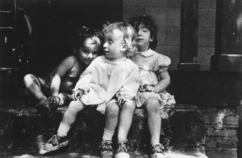 3 Babies on Steps, 1986, 14 x 11 inches, gelatin silver print