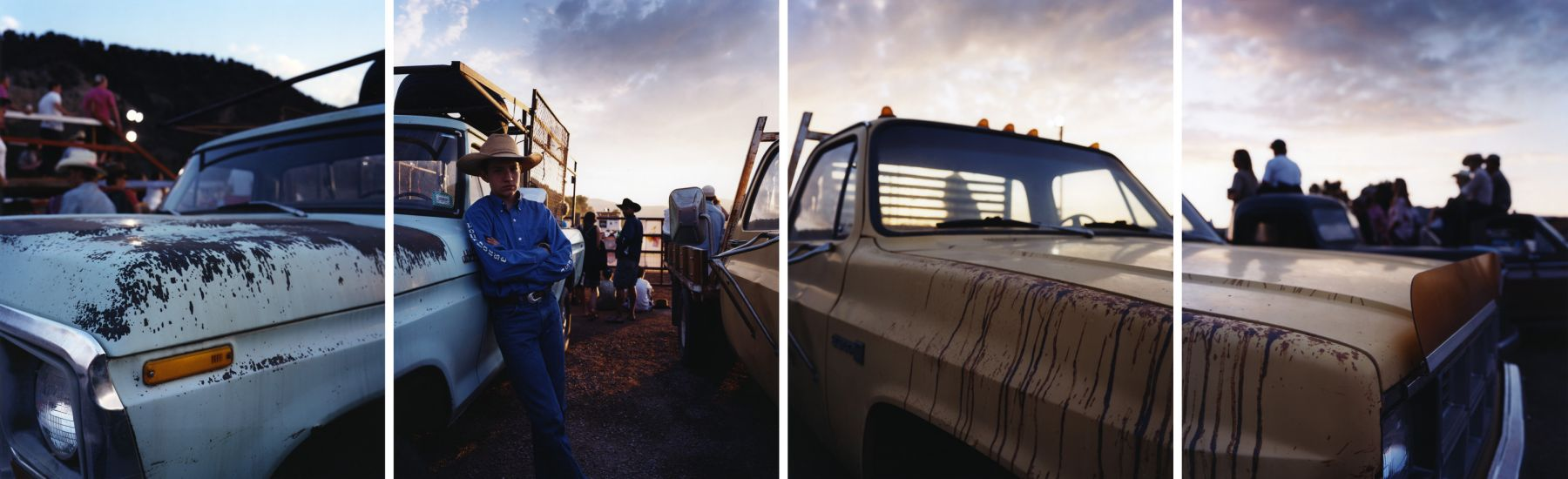 Two Trucks, 2008. Four-panel archival pigment print, available as 24 x 80 or 40 x 120 inches.