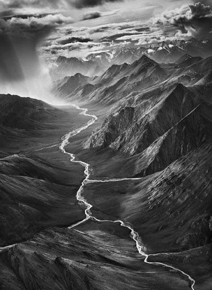 The Brooks Range, Alaska, from the series Genesis, 2009. 20 x 16, 24 x 20, 35 x 24, 50 x 36 or 68 x 50 inch gelatin silver print