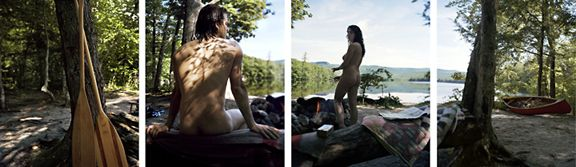 Between Bodies, 2009. Four-panel archival pigment print, available as 24 x 80 or 40 x 120 inches.