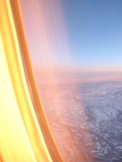 14 Hour Sunset, Over the Alaskan Range, 2010, 34.25 x 26 inch chromogenic print