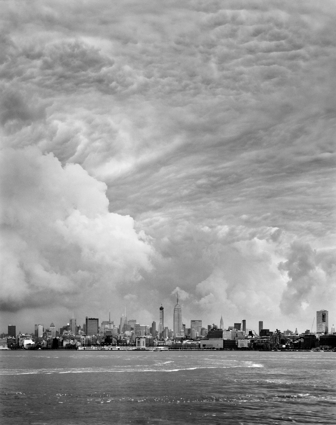 Clouds #33, New York City, from the series Rocks and Clouds. Gelatin silver print, 40 x 30 or 68 x 54 inches.