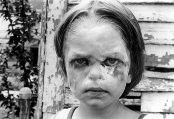 Girl with Face Paint, 1986, 14 x 11 inches, gelatin silver print