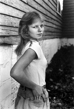 Teenage Girl Turning Around Back, 1986, 11 x 14 inches, gelatin silver print