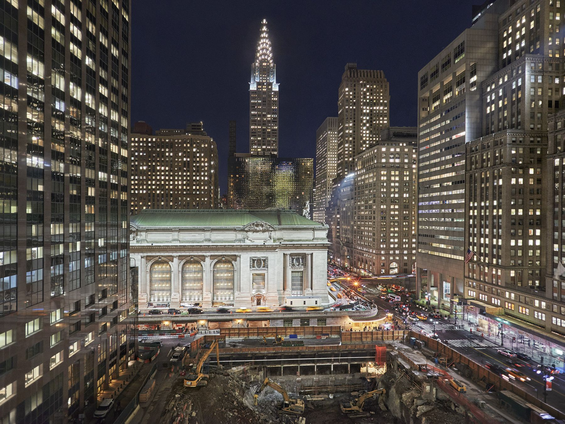 Grand Central Terminal, Western Facade, 2017. Archival pigment print available in: 20 x 24 inches, edition of 15; 30 x 40 inches, edition 15; and 40 x 50 inches, edition of 5.