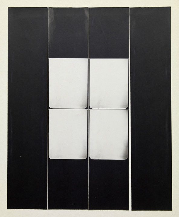 Jared Bark,Untitled, PB #1107,1973. Vintage gelatin silver photobooth prints, 8 x 6 1/2 inches overall.