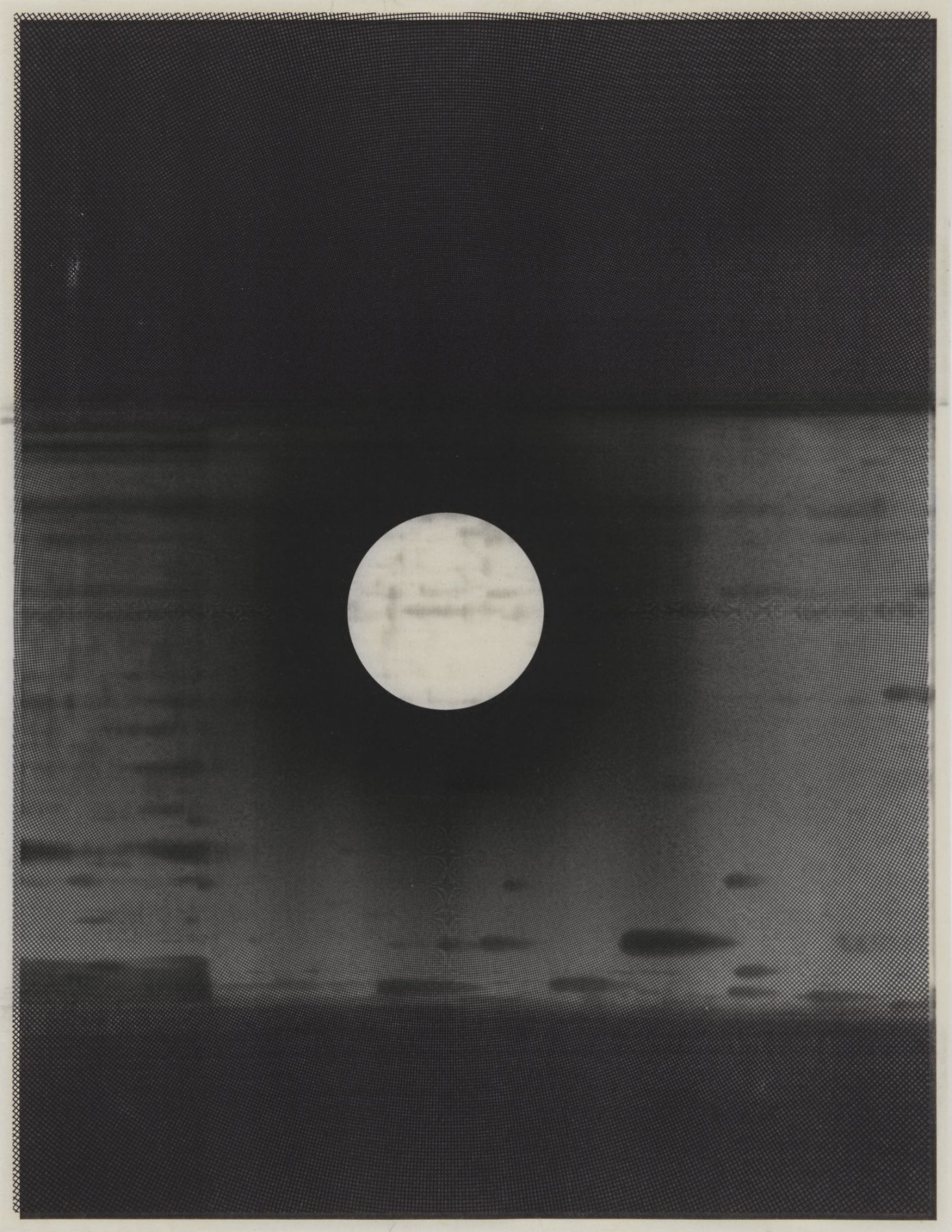 Untitled, 2017 Laser toner on paper, unique