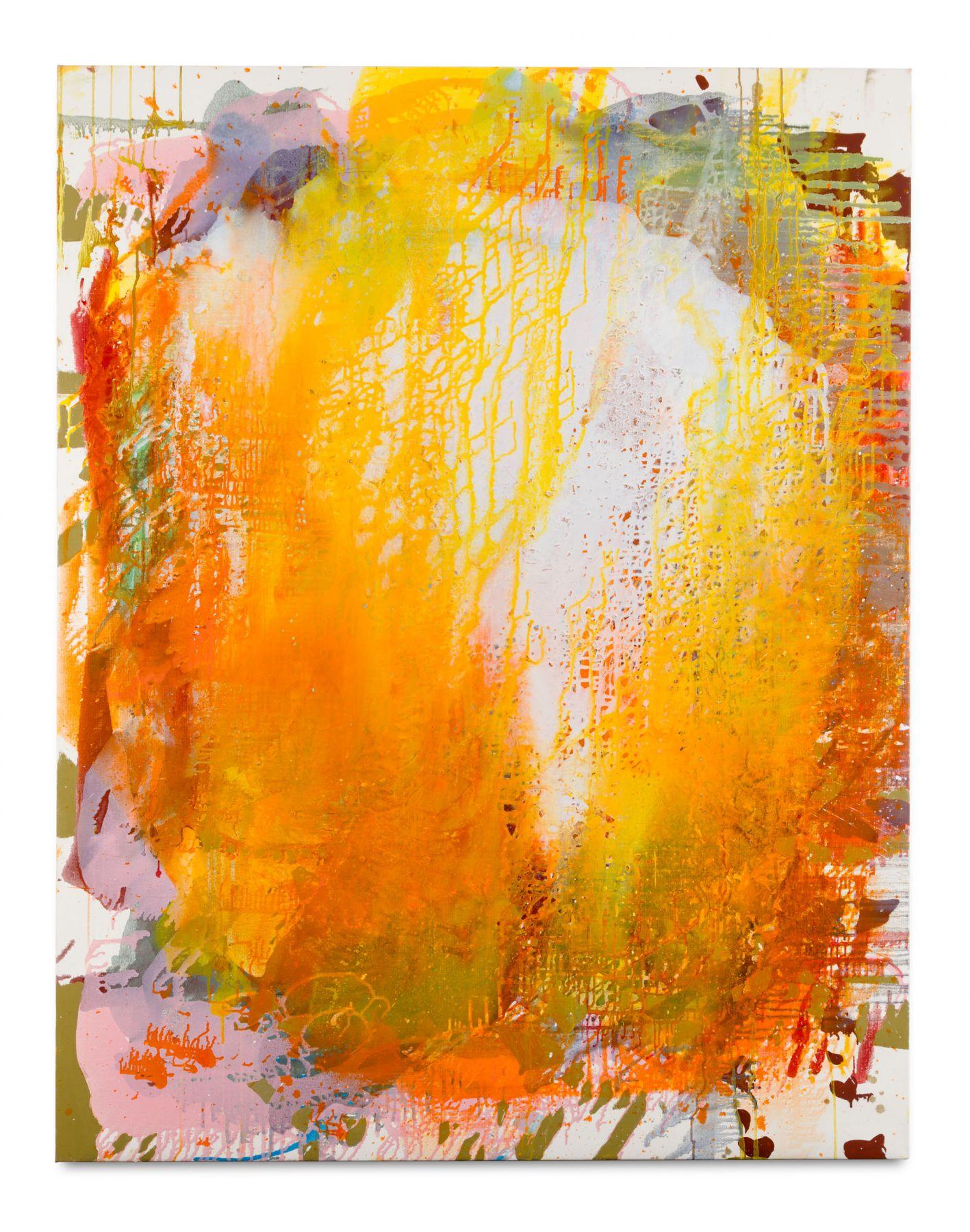 Portrait (Blast),2018 Oil and mica on linen