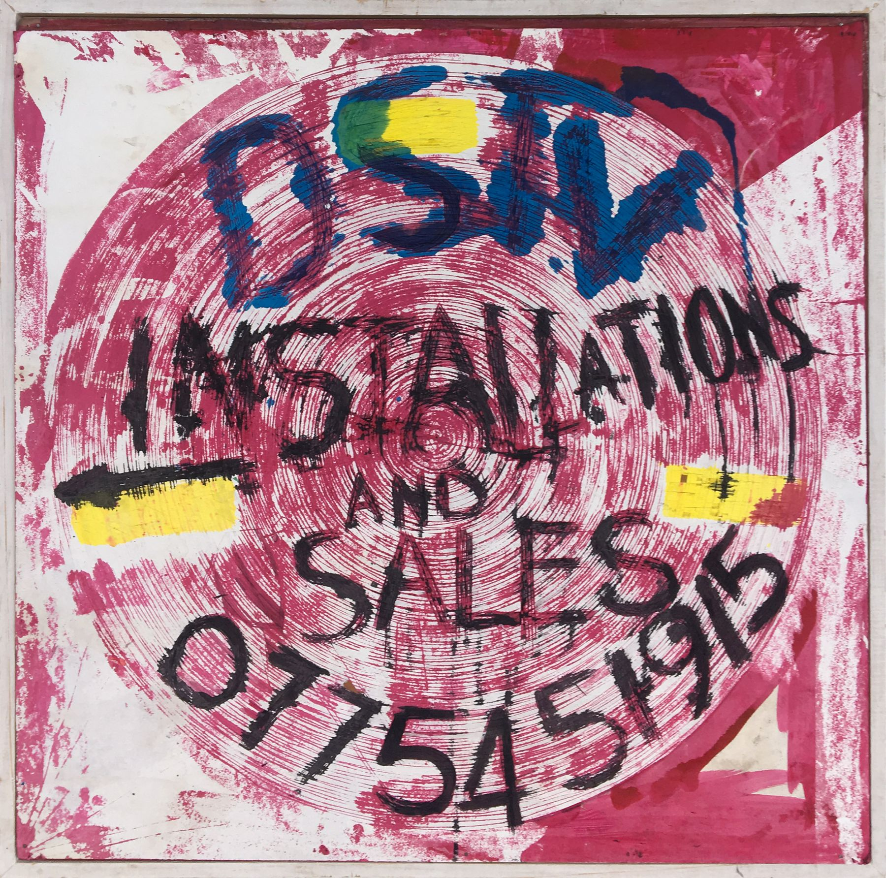pink drawing that says DSTV Installations and Sales