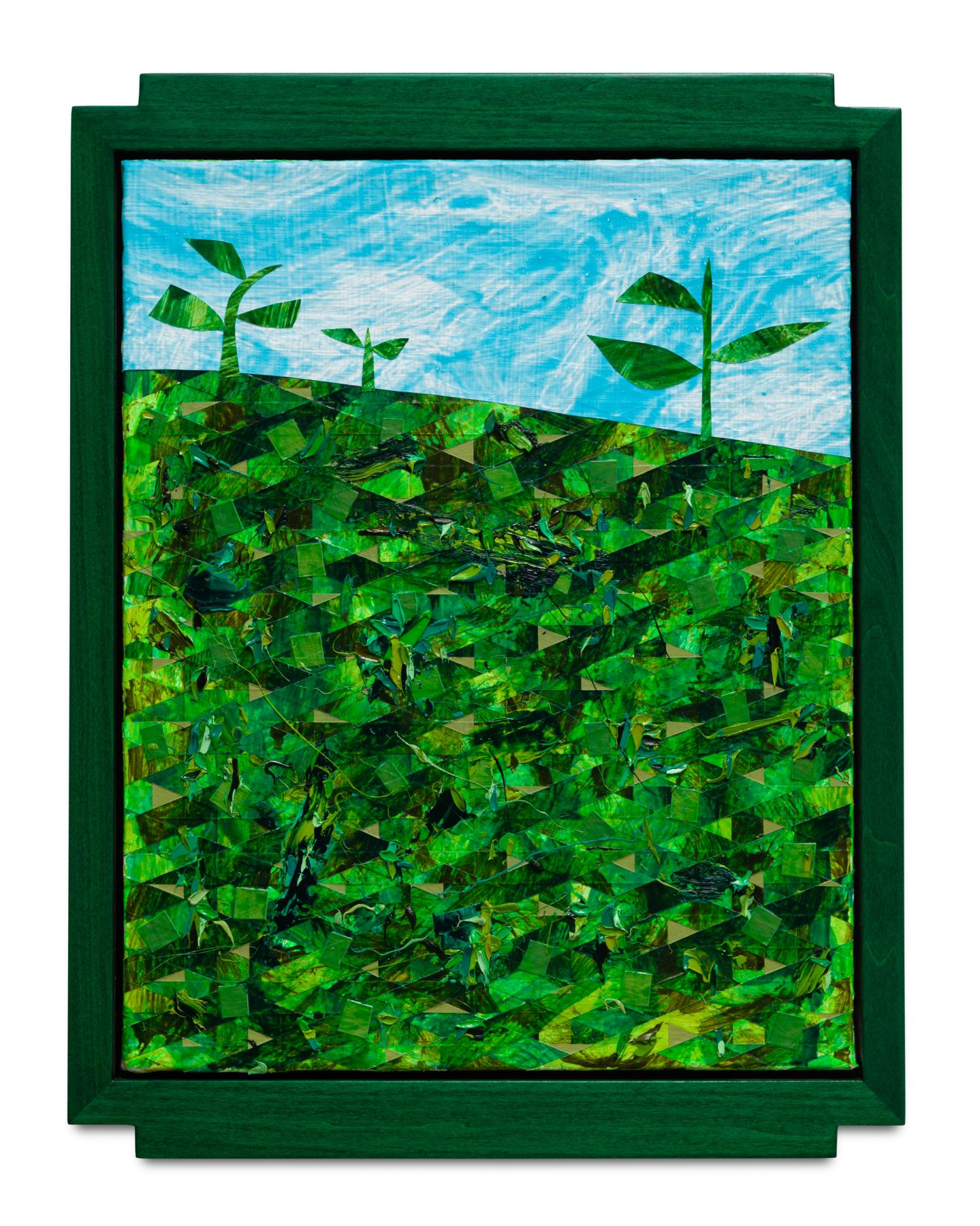 Weeds #2, 2017 Oil and acrylic on canvas with painted artist frame