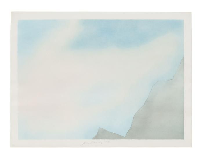 Untitled (Torn Cloud D), 1973, Pastel on paper, 30 x 40 inches (76.2 x 101.6 cm)