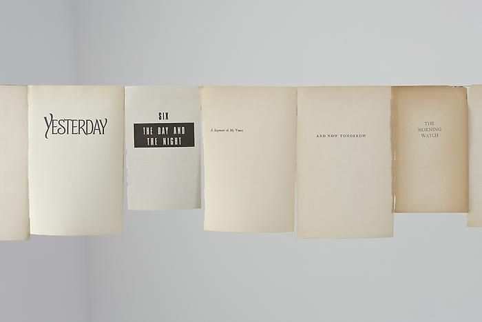 """Timeline I (detail), 201031 book pages and copper wireLength: 19'10""""VS 26"""