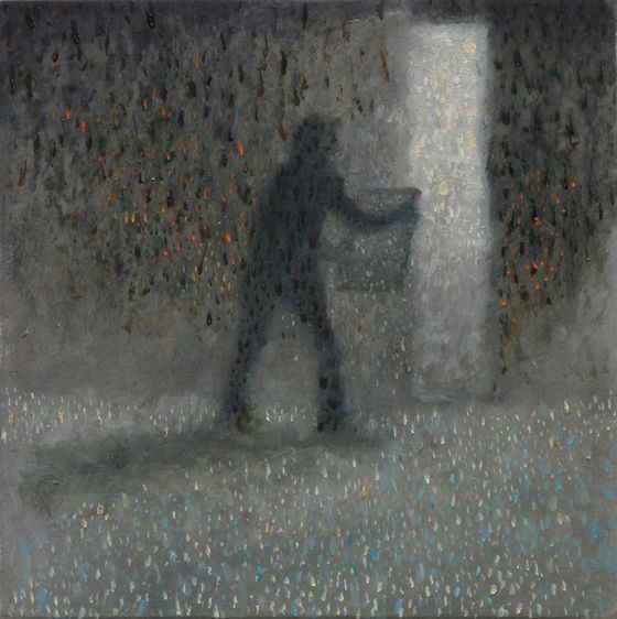 El Ejemplar, 2010, Oil on aluminum panel