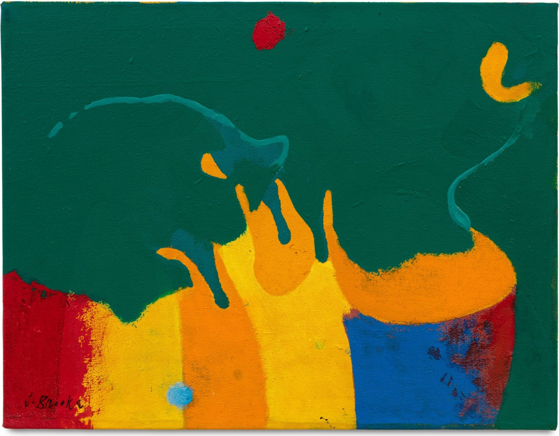 Aamo, 1981 Acrylic and oil on canvas