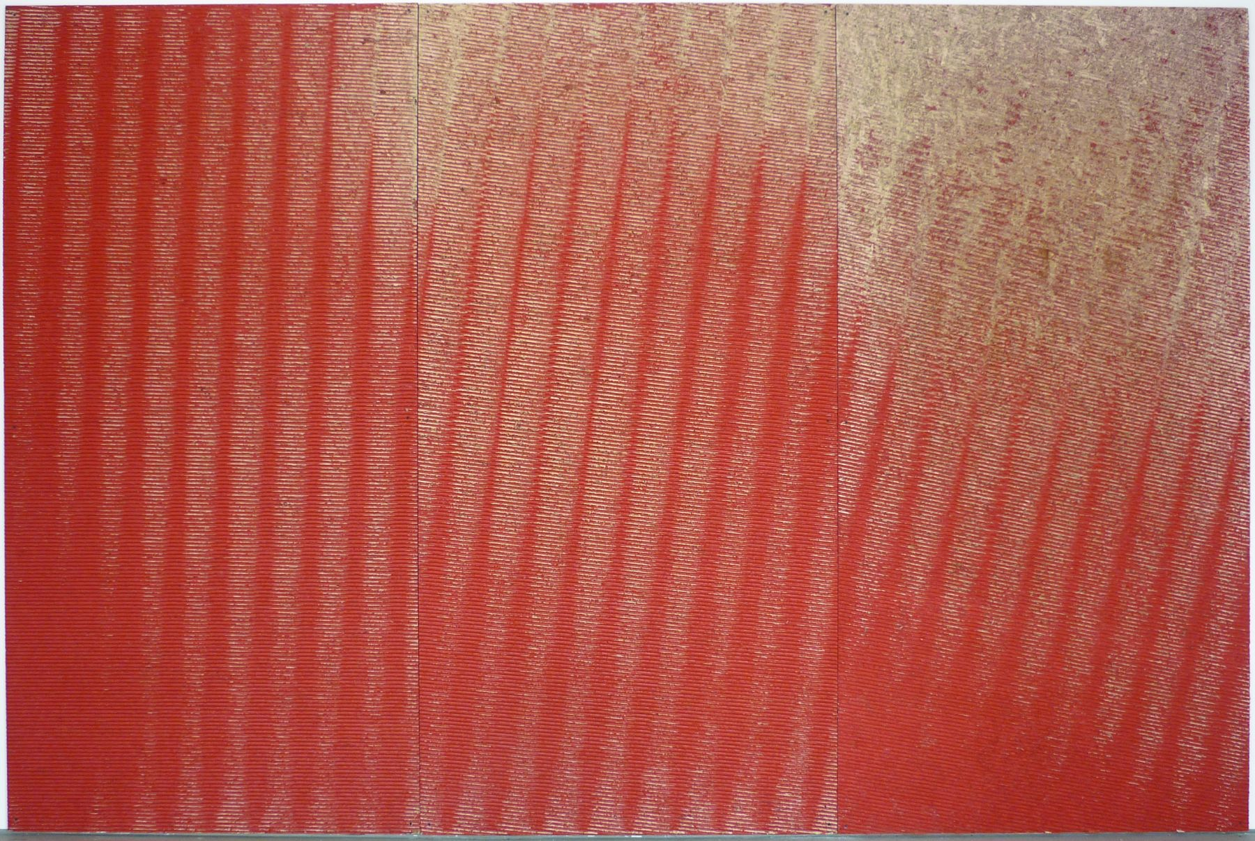 Michael DeLuciaTuning (Red)2011Household paint on plywood96 x 144 inches (243.8 x 365.8 cm)MDe 68