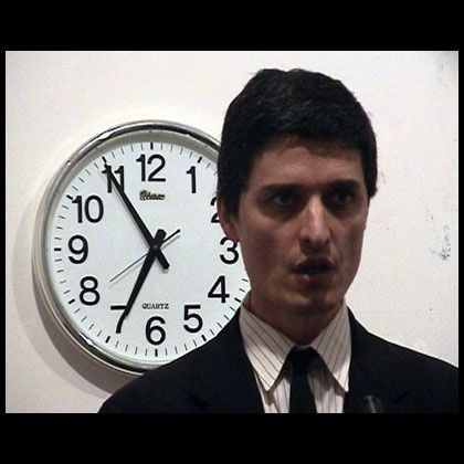 "Cesare PietroiustiPensiero Unico, 2003Single-channel DVD projection with soundDuration: 5' 40"" loop"