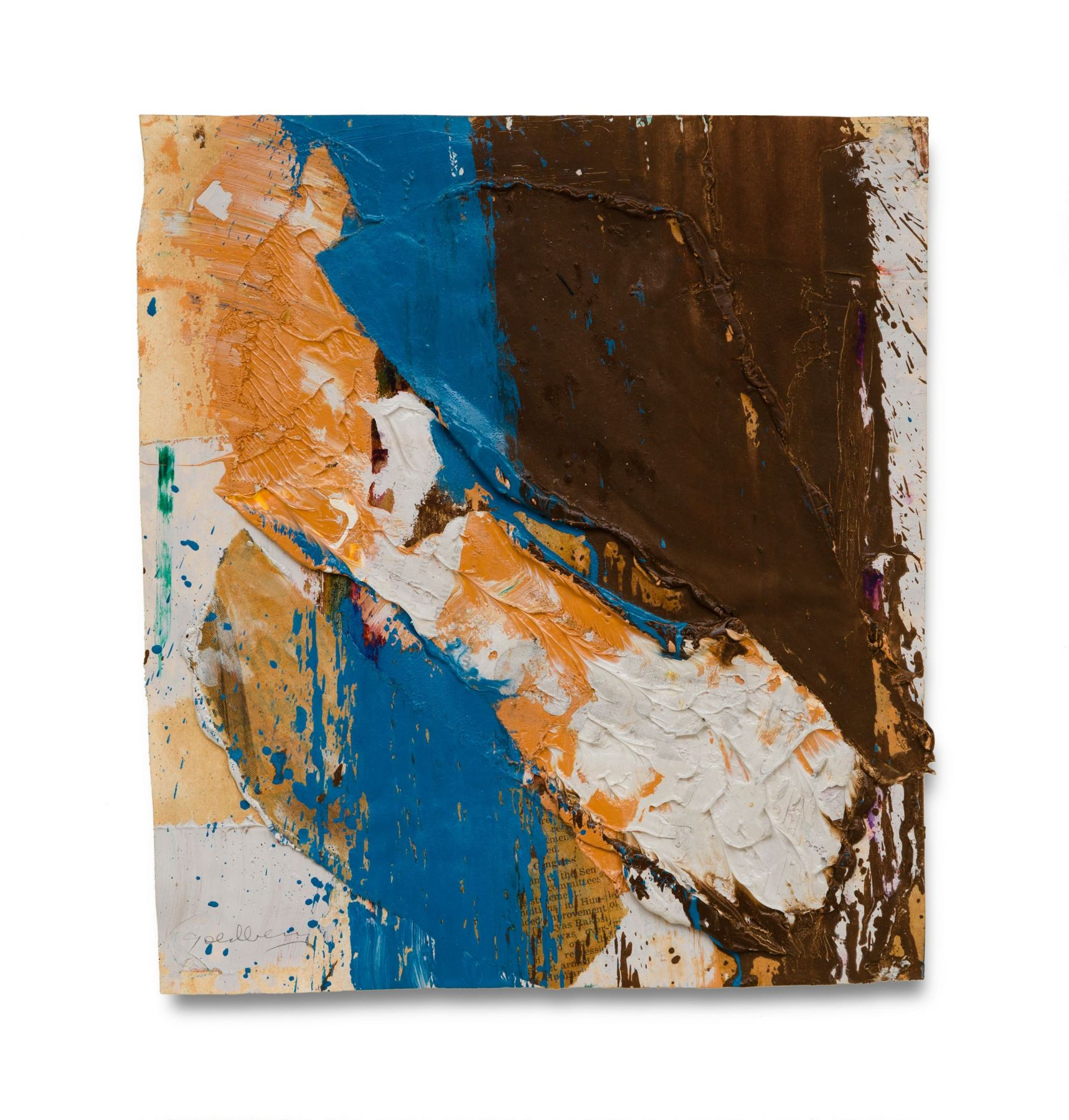 abstract brown and gold painting