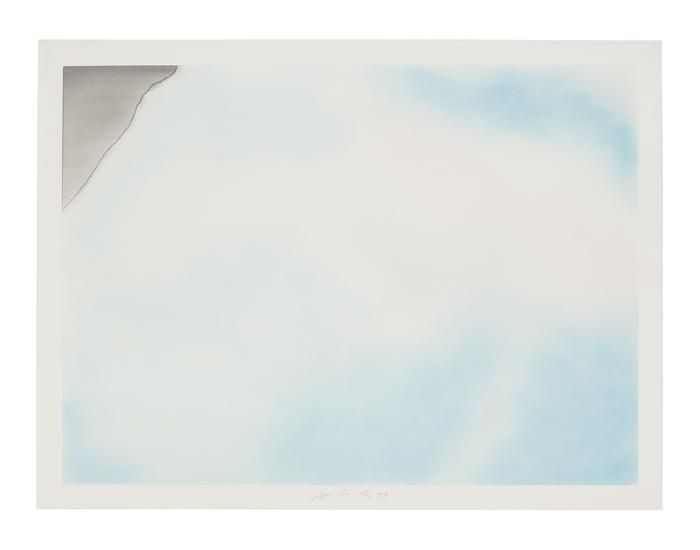 Untitled (Torn Cloud B), 1973, Pastel on paper, 30 x 40 inches (76.2 x 101.6 cm)