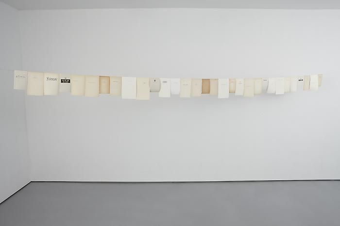 """Timeline I, 201031 book pages and copper wireLength: 19'10"""""""