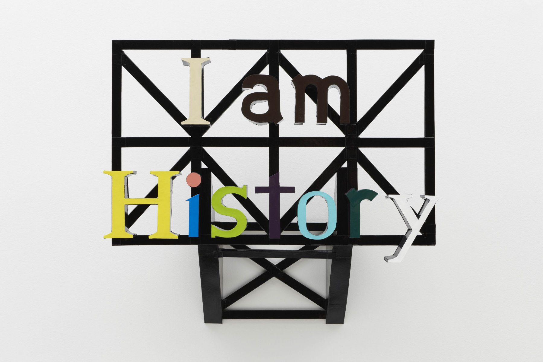 Chris Caccamise I am History (After Peter Halley)
