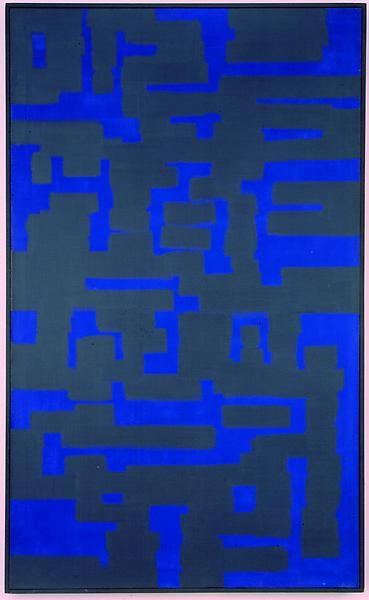 Ad ReinhardtBlue and Grey, 1950Oil on canvas60 x 36 1/4 inches (152.4 x 92 cm)