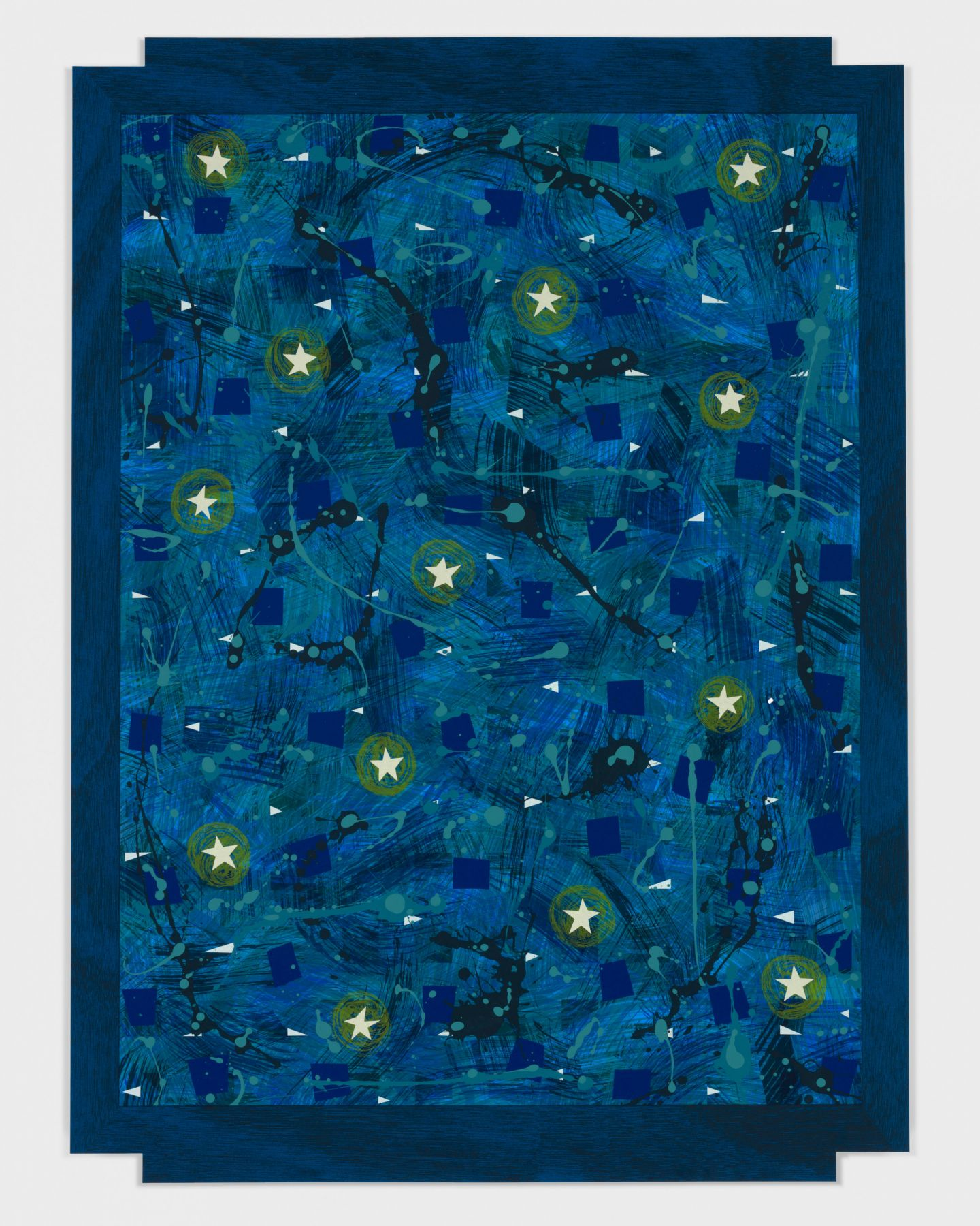 Starry Sky, 2018 Serigraph in 18 colors from hand painted films on Rising Museum board