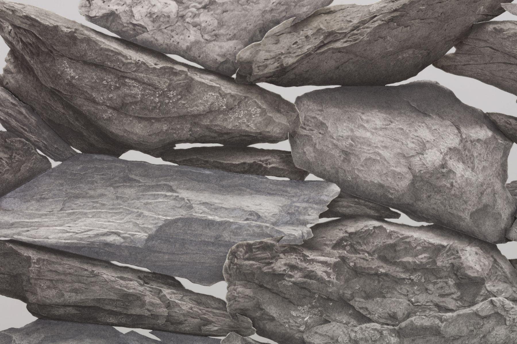 Fieldstones (wall) [detail], 2018