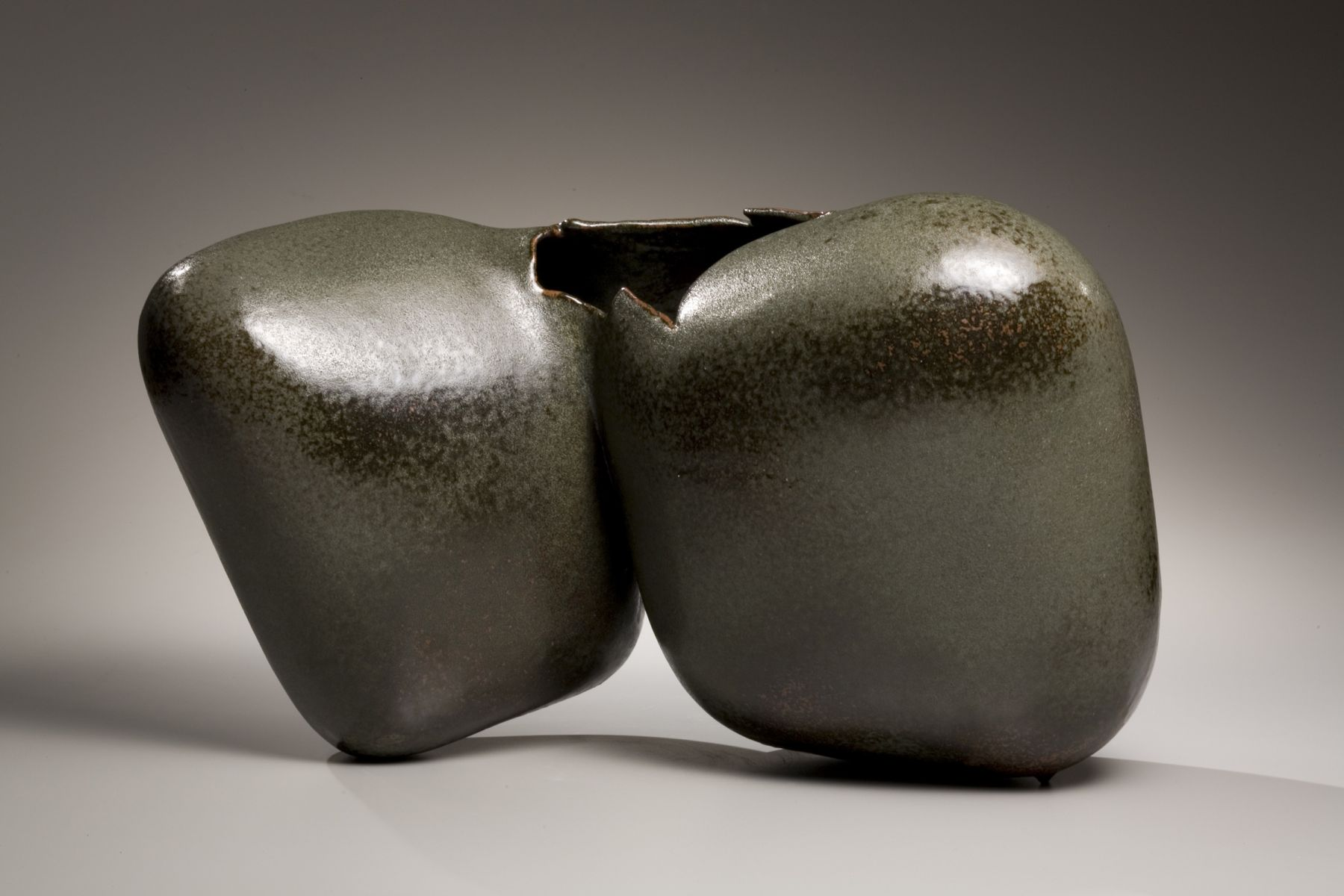 Biomorphic sculpture of double-sided bulbous forms, 2001