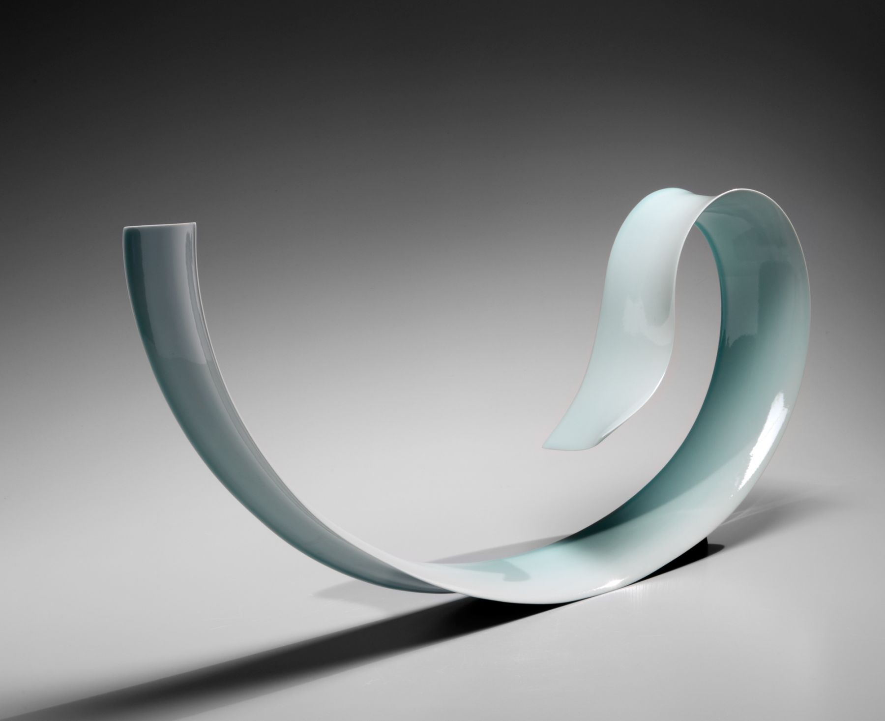 Kino Satoshi(b. 1987), Mountain Gust; Thin, elongated and curling ribbon-like sculpture