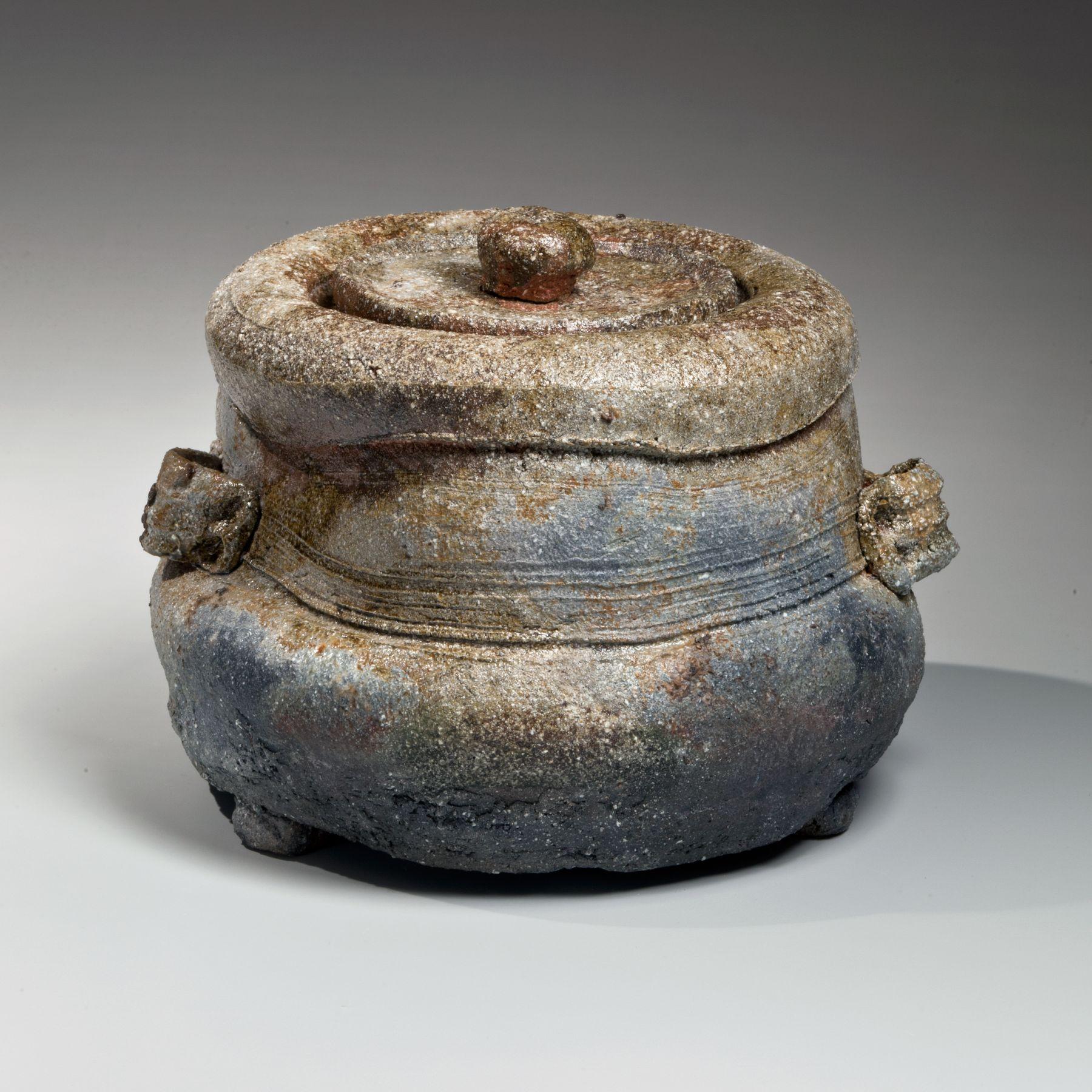 Tanaka Sajiro, karatsu water jar, karatsu mizusashi, Glazed stoneware, 1998