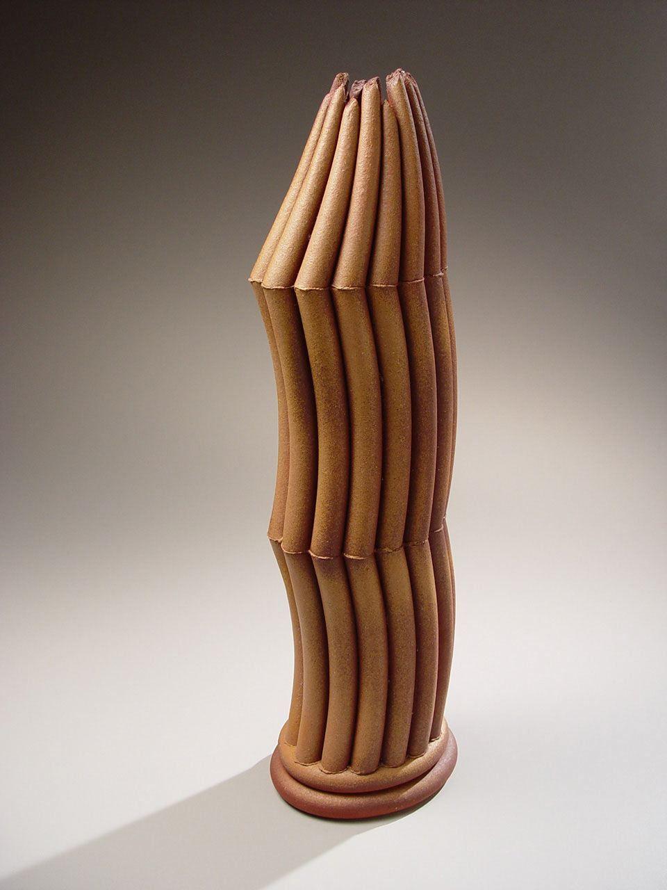 Vertical sculpture consisting of tubular components, ca. 1997