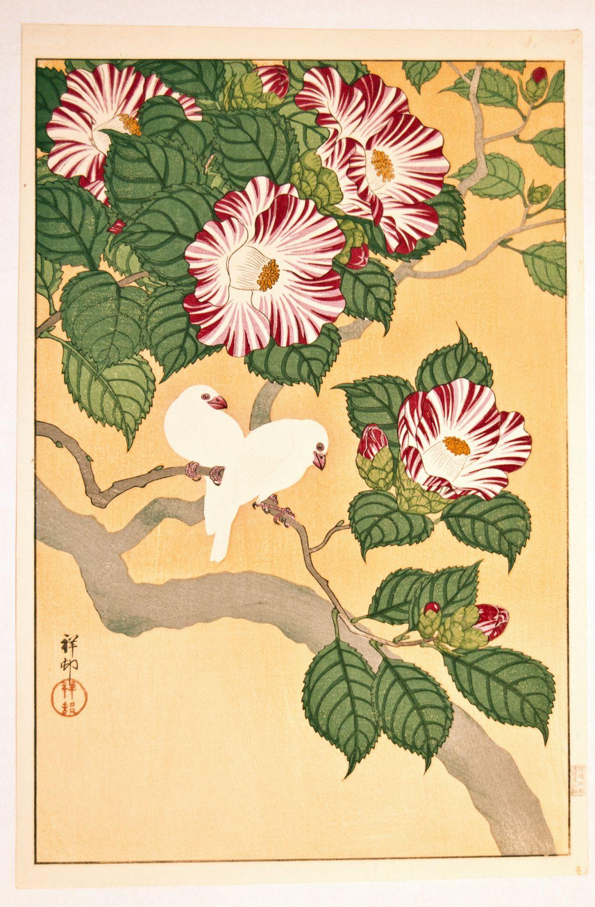 Ohara Koson (1877-1945), Camellias with White Birds