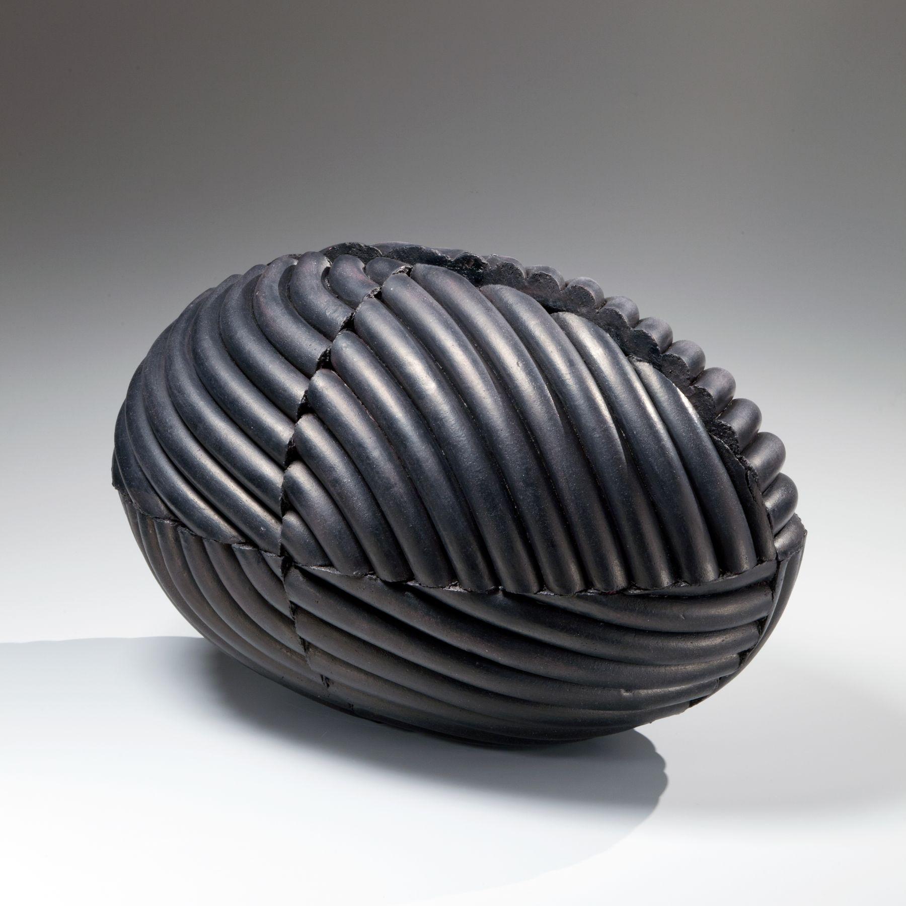 Imai Hyoe, Kukuto, Black Work, 2015, black smoke-infused stoneware, Japanese ceramics, Japanese pottery, Japanese sculpture, Japanese vessel, Japanese contemporary ceramics