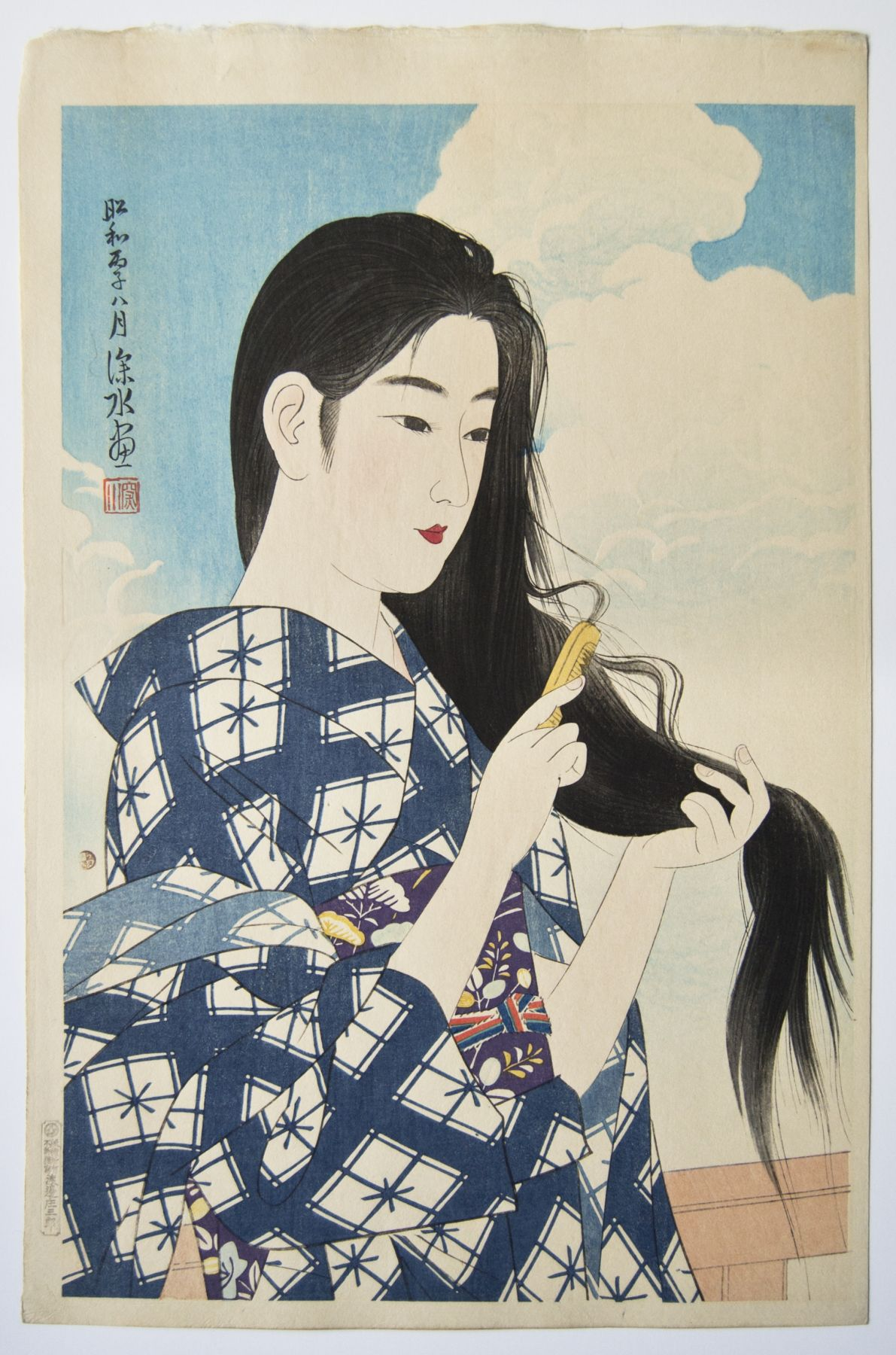 Ito Shinsui (1898-1972), Washing Her Hair(Araigami)
