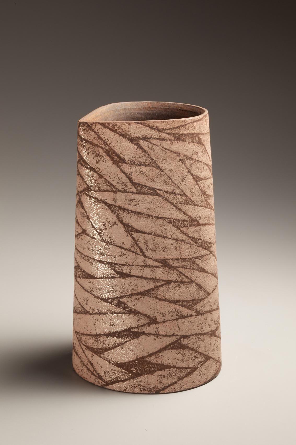 Columnar vessel, 1988, Japanese contemporary, modern, ceramics, sculpture